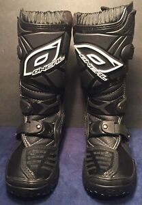 O'NEAL Element MX Motocross Motorcycle Boots YOUTH SIZE 12 - LIKE NEW.... LOOK!!