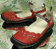 JAMBU JBU VEGAN RED BLACK SPORT SANDALS DECK BOAT WATER SHOES US WOMENS SZ 7 M