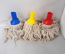3 Colour Coded Exel Socket Absorbent Cotton Yarn Mop Head Push & Screw Handle