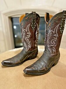 Mens OLD GRINGO Style 4347 Fancy Stitched Snip Toe Cowboy Boots 9.5D BLING!