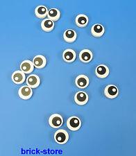 LEGO ronde Yeux 1x1 Bouton Carrelage / Dalles / Plaques / 20 Pièces