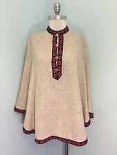 Vintage Lanz Original Wool Cape Lined Excellent One Size S M L Anthropologie *