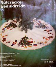 "Lee Wards Felt Christmas Tree Skirt Kit Nutcracker 45"" Round Santa Soldier Toys"