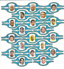 Famous Soccer Players : European cigar band set inc Zlatan - ideal for framing
