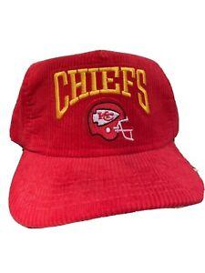 New Era Kansas City Chiefs Hat - Vintage Corduroy SnapBack Hat- Football