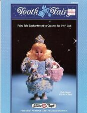 "Crochet Pattern - Tooth Fairy - Crocheted Ensemble for 9 1/2""  Doll - #FMC159"