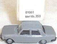 Wartburg 353 Gris - imu / Euromodell 01001 H0 1/87 Emb.orig #GA5 Å √