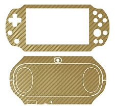 Golden Carbon Fiber Vinyl Decal Skin Sticker Sony PlayStation PS Vita PSV 2000