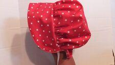 ADULT PRAIRIE PIONEER BONNET RED  STARS