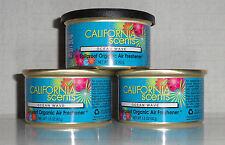 California Scents 3 Duftdosen Ocean Wave ► Ozean  Welle  + 1 Deckel