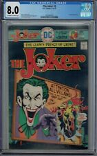 CGC 8.0 THE JOKER #3 1ST SOLO SERIES 1975 BATMAN VILLAIN CREEPER APP