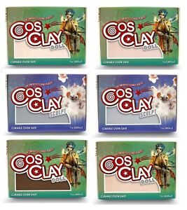 CosClay Professional Hybrid Polymer Sculpting Clay Stays Flexible & Shatterproof