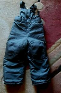 Ski Bib Overalls Snowsuit Cherokee  Black Insulated Snow  Toddler Size 3T