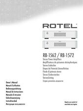 Rotel RB-1572 Amplifier Owners Instruction Manual