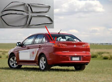 Chrome Tail Rear Light Lamp Cover Trim for 2008-2015 Mitsubishi Lancer