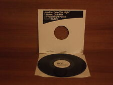LOVE INC. '' Into The Night '' ( 2 mixes ) : 12'' Vinyl : Promo Nulife : NUX85