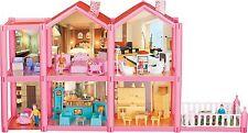 KIDCRAFT Fácil Montaje Casa de Muñecas Rosa Princesa poco Villa Con Muebles