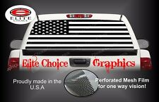 Infidel Black and White American Flag Rear Window Graphic Decal Sticker Truck