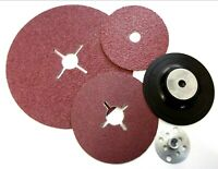 Abracs sanding disc. Fibre discs. 24 36 60 grit. Or Backing pad.. *Top quality!