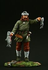 Tin soldier, Collectible, Medieval Viking Fisherman 54 mm, Medieval