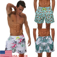Men's Swim Trunks Beach Shorts Surf Board Shorts Summer Sports Pants Breathable