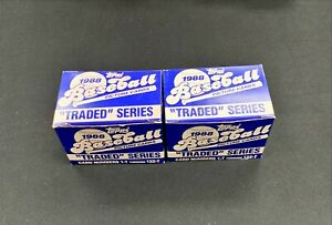 Lot Of (2) 1988 Topps Traded Baseball Set 132 cards Complete Set