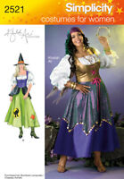 Sew & Make Simplicity 2521 2803 SEWING PATTERN-Womens WITCH GYPSY COSTUMES 18-24