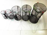Crayfish Crab Net Bait Live Trap Pot Eel Fish Prawn Shrimp Lobster Fishing Cage