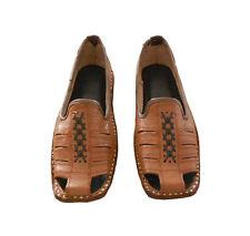Traditional Mojari Men Shoes Leather Jutti Handmade Boat Shoes Flat UK 7.5 EU 41