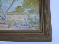 ANTIQUE ANNA HILLS PRINT CARVED FRAME ART DECO ERA AMERICAN PHOTO DUNCAN? VNTG