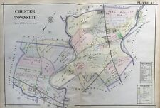 1913 NORTH MIDDLETOWN PENNSYLVANIA DELAWARE COUNTY CUMBERLAND CEMETERY ATLAS MAP