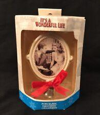 It's A Wonderful Life George & Mary Bailey Porcelain Cameo Ornament Enesco Xmas