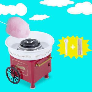 HOMCOM Zuckerwattemaschine Zuckerwattegerät Zuckerwatte 2 Heizröhren Rot Neu