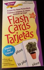 """Educational Spanish Flashcards """"Around the home"""" pictures and words."""