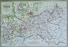 Grenz-kolorierter franz. Kupferstich 1830: PRUSSE/ PRUSSIA/ PREUSSEN von Thierry