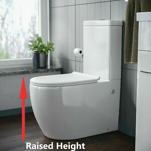 NEW Luxurious Comfort Raised Height Close Coupled Toilet WC Disabled Elderly