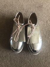 Girls Zara Silver Shoes Size 3