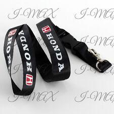 JDM Honda Accord Civic Black Lanyard Cell Phone Keychain Quick Release Key Chain