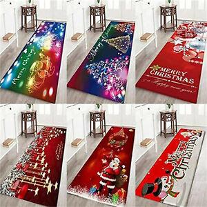 Merry Christmas Floor Mats Anti Slip Welcome Doormats Indoor Home Carpets Decor