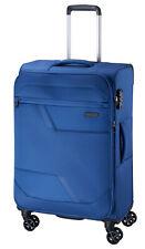 Koffer-Stoff-XL-Reise-Trolley-Blau-80 cm-Groß-4 Rollen-3,2 kg-Leicht-TSA-Bowatex