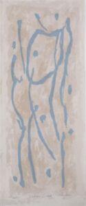 David RANKIN Lohan Creek- Signed Original Screenprint Minimal Gestural Landscape