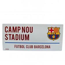 Barcelona Official Crested Metal Street Road Sign Camp Nou Stadium Present Gift