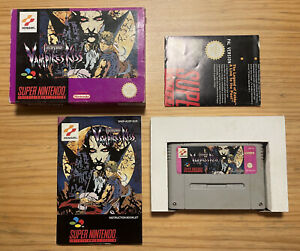 Castlevania Vampire's Kiss PAL. SNES. Boxed. Complete.