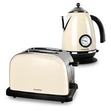 Frühstück Set Wasserkocher Erhitzer 1,7 Liter 2 Scheiben Toaster 1000 W creme
