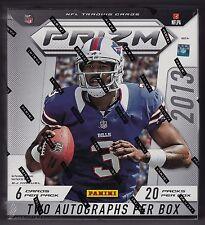 2013 Panini Prizm Football sealed hobby box 20 packs of 6 cards 2 auto