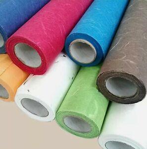 "Korean Mulberry Paper HanJi Roll Colored Natural Fiber Texture 21.3"" x 787.4"""