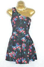 TOPSHOP Ditsy Floral Une Épaule Playsuit UK 6