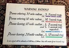 More details for early warning signal sign for planes entering airspace .looks ww2 or just after