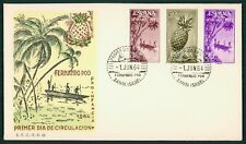 FERNANDO POO FDC 1964 FLORA FRÜCHTE PLANTS FRUITS ANANAS BOOT BOAT cl52