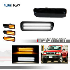 New listing For 95-00 Toyota Tacoma Smoked Switchback White LED DRL Amber Turn Signal Lights